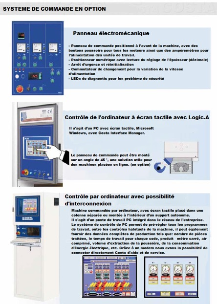 Ebavureuse emerisseuse polisseuse MD COSTA LEVIGATRICI commandes en options