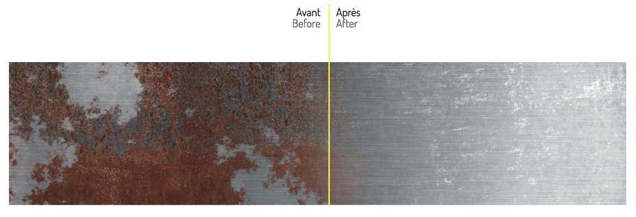 AvantApres solution de passivation Deox Fit Wipes Nitty Gritty